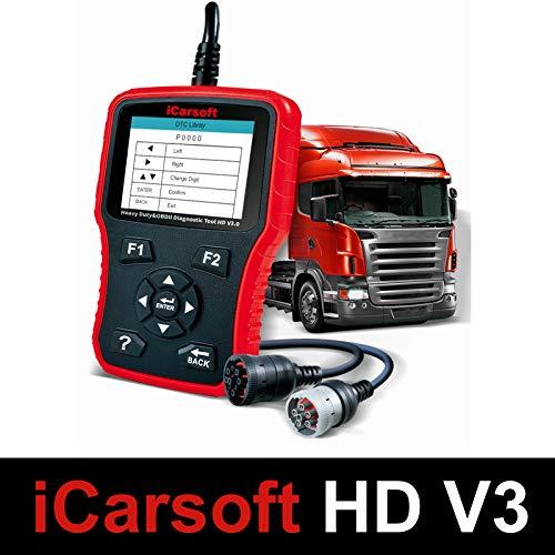 iCarsoft HD V3.0 - Herramienta de diagnóstico profesional para pesos pesados y camiones