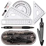 Compass Set, Muscccm Compass for Geometry Math Geometry Kit 8 Pieces - Student Supplies Dr...