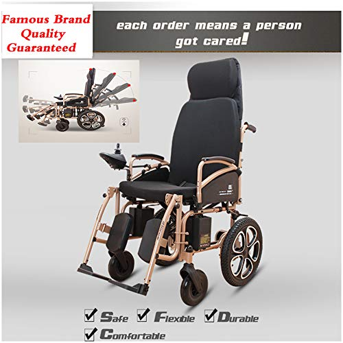 Buy Bargain TXDWYF Fully Lying Multifunctional Disabled Electric Wheelchair/Open/Fast-Fold Compact E...