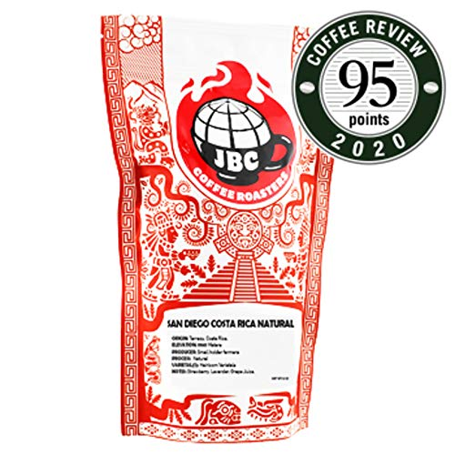 "JBC Coffee Roasters ""Costa Rica San Diego Natural"" Medium Roasted Whole Bean Coffee - 12 Ounce Bag"