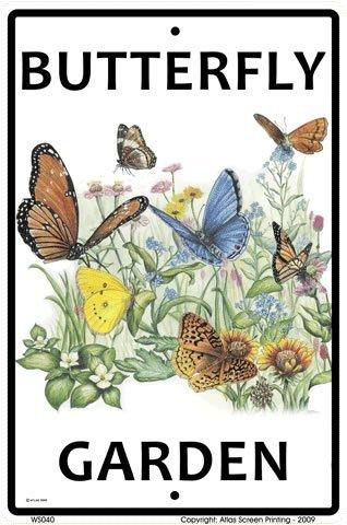 Crosswalks Butterfly Garden 25,4x 38,1-Plakette Schild
