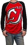 NHL Mens Performance Long-Sleeve Rash Guard (New Jersey Devils, X-Large)
