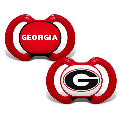Baby Fanatic 2 Piece Pacifier Set, University of Georgia Bulldogs