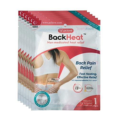BackHeat Heat Patch for Back Pain Relief and Comfort from Backaches - Pack of 6 (Patches/Wraps/Pads)