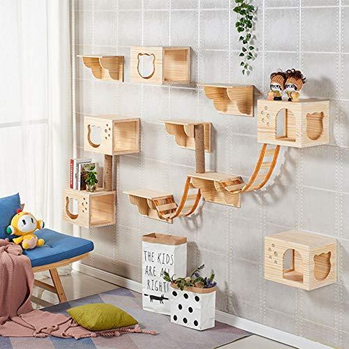 Centro de Actividades para gatitos instalable en la pared, personalizable