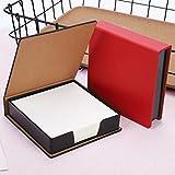 2 confezioni da 360 fogli di carta per appunti non appiccicosi con supporto in pelle PU, blocco note a forma di cubo, piccolo blocco per appunti appiccicosi, dispenser per appunti e messaggi