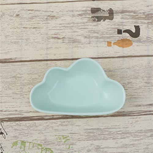 Best Quality Hah ren Gifts Cute Cloud Rain Drops Plate Ceramic Porcelain Smooth Novel Dish Dinnerware 1PCS 2 Sizes