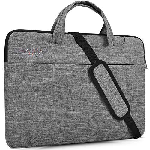 15.6 Inch Laptop Sleeve Case Shoulder Bag Fit Acer Aspire E 15,Acer Chromebook 15,Acer Predator Helios 300, MSI GL62M/MSI GV62 15.6, ASUS VivoBook F510UA 15.6, LG Dell MSI HP 15.6 inch Laptop Bag,Gray