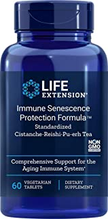 Life Extension Immune Senescence Protection Formula Standardized Cistanche Reishi Pu-erh Tea 60 Vtabs