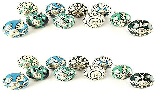 JGARTS -  20perillas de cerámica pintadas a mano armario para cajones