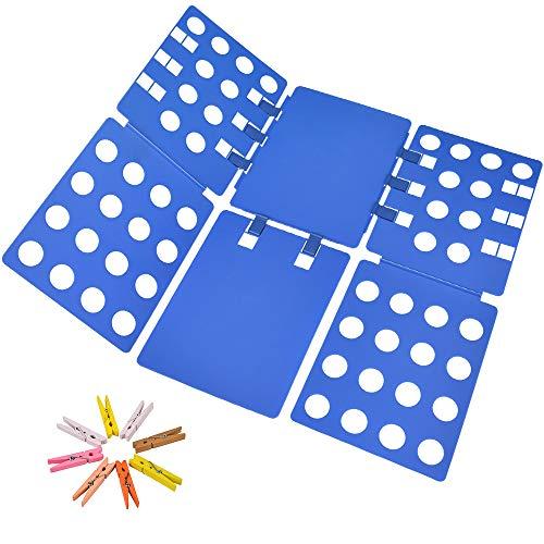 PetOde Hemd Faltbrett T Shirt Ordner Kleidung Flip Fold Kunststoff Flip Fold Waschküche Organizer
