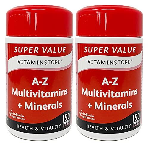 Vitamin Store A-Z Multivitamins & Minerals Food Supplement, 150 Tablets per...