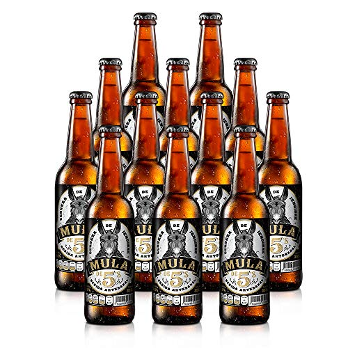 MULA DE CINCOS | 12 Pack de Cerveza de Jengibre Mula de 5's