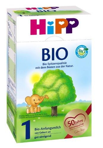 Hipp Bio 1 Anfangsmilch von Geburt an, 6er Pack (6 x 600g)