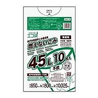 神戸市指定袋家庭用 燃えないごみ用 ECOTAI ECO 45L 0.025mm厚 10枚 透明