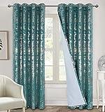 always4u Cortinas de terciopelo suave 100% opacas para dormitorio, cortinas...