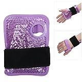 Enveloppe de poignet de thérapie par le froid, enveloppement de poche de glace ajustable au poignet pour une intervention chirurgicale en cas de blessure d'activité intense(purple, Polar Animals)