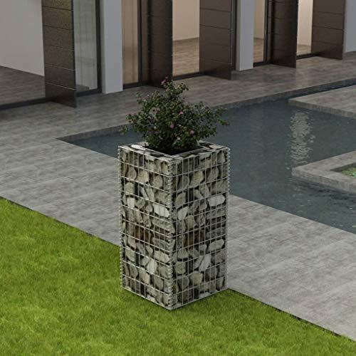 UnfadeMemory Gabionen-Hochbeet Gabionenkorb Befüllbarer Steinkorb Gabionen Wand für Steine zur Individuellen Gartengestaltung (50 x 50 x 100 cm)