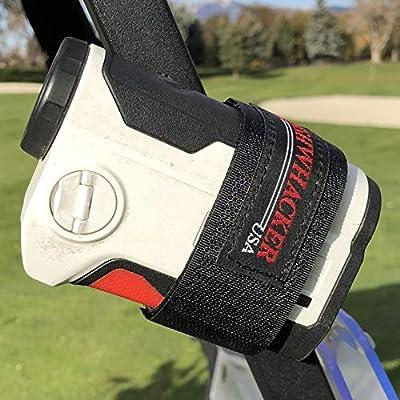 Bushwhacker Magnetic Multi Purpose Mount for Golf Cart Railing - Great for Rangefinder GPS Attachment Rail Bar Quick Accessory Case Range Finder Strap Easy Stick Towel Holder Hanger (1)