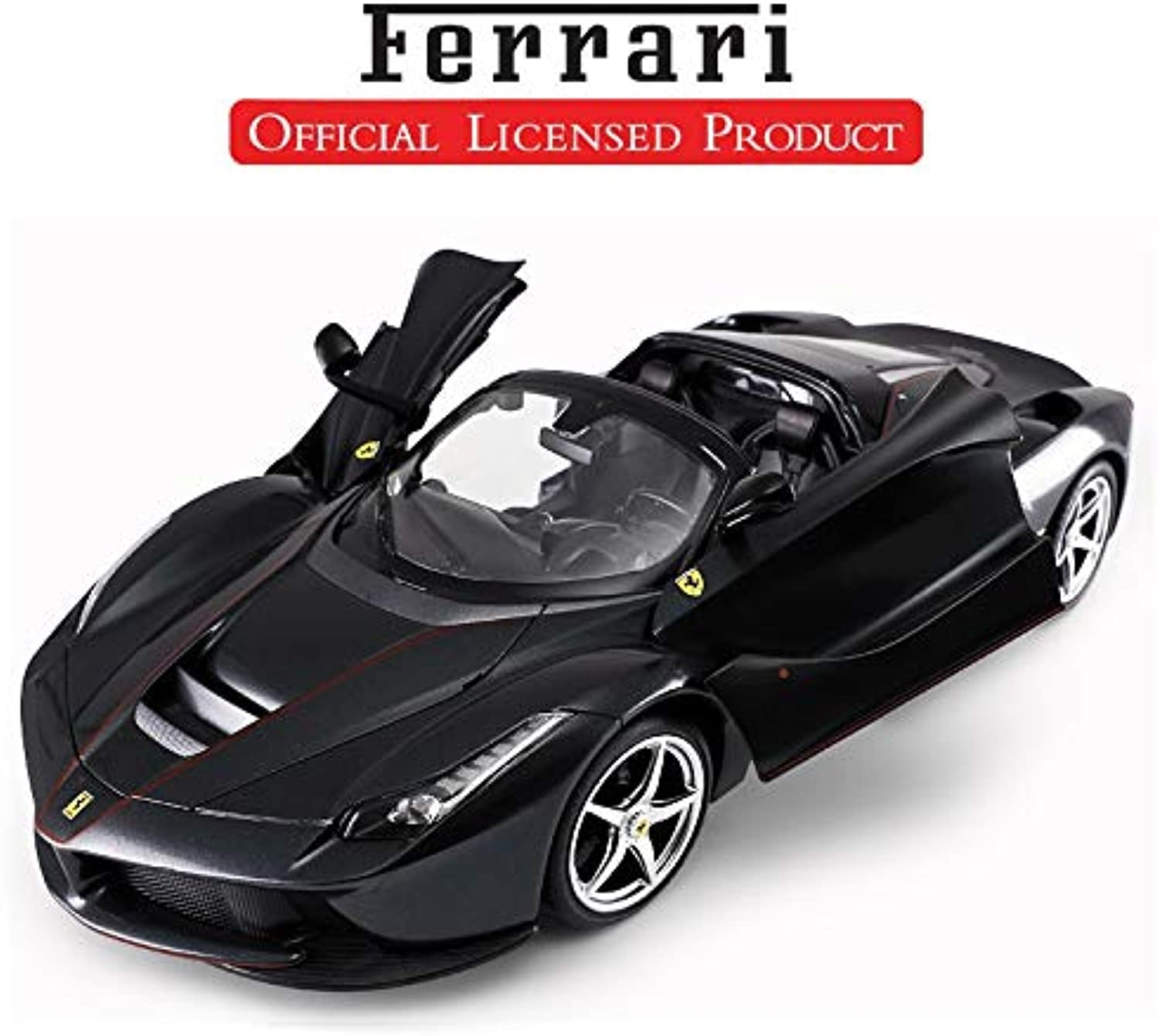 Generic La Ferrari Remote Control Cars Opening Doors, Lights 1 14 Official Licensed 2WD Drifting Aperta Electric Radio Controlled RC Car Black
