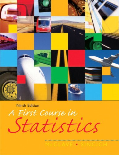 First Course in Statistics, A (9th Edition)