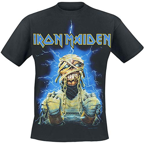 Iron Maiden Powerslave Mummy Hombre Camiseta Negro L, 100% algodón, Regular