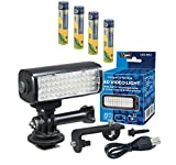Lytro Illum Light Field Digital Camera Lighting LED-M52 Mini LED Light for Action Cameras, Camcorders and Phones - Plus a Free Pack of 4 AAA NiMH Rechargable Batteries - 1000mAh