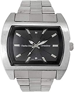 Charles Delon Mens Quartz Watch, Analog Display and Stainless Steel Strap 5152 GPBS