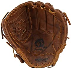 12.50 Inch Pattern,  Softball Specific Pattern Classic Walnut Crunch Leather - Stability, Flexibility, and Durability Closed Back with Pull Strap Adjustable Wrist Fully Closed Web Made in the USA - Since 1934 (Nocona, TX)