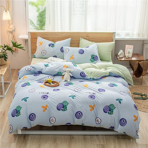 GYHJG Sábana De Cuatro Piezas De Algodón De Punto para Dormir Y Lavar Ropa De Cama Doble Dormitorio De Estudiantes Ropa De Cama De 3 Piezas