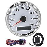 Velocímetro GPS Impermeable para motocicleta, 85 mm / 3.3 pulgadas Velocímetro...