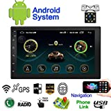 Double Din Android Car Navigation Stereo Standard 1G/16G Car Entertainment Multimedia Radio,WiFi/BT Tethering Internet, GPS (Android with GPS 1G)