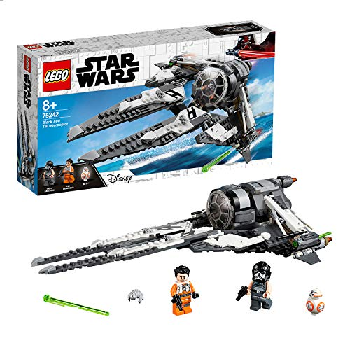 LEGO StarWars TIEInterceptorBlackAce, Set con Astronave, Include Minifigure Mini Drone BB-8 e Poe Dameron, Serie TV Star Wars Resistance, 75242