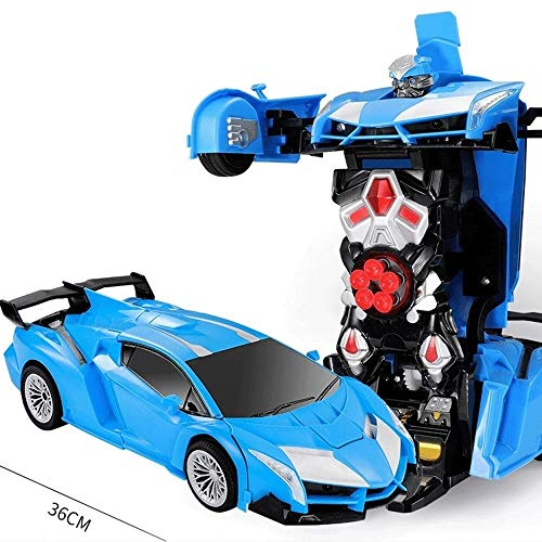 Best Deals! Woote Child 360° Rotation Drift Deformation Car Gift RC Car Robot Can Launch Bullets Li...