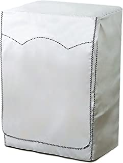 IKENOKOI 洗濯機カバー ドラム式洗濯機用 防水 防塵 日焼け止め 紫外線に強い 老化防止 外置き ベルクロ開閉式 (銀色 L 60*65*85cm)