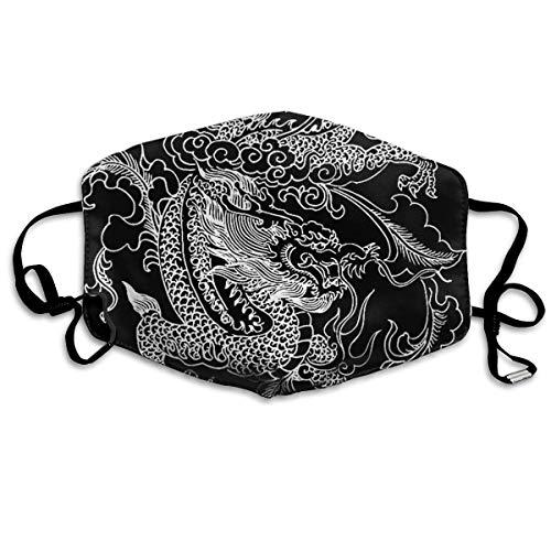 Atmungsaktive Premium Gesichtsschutzhülle,Chinese Dragon Women Men Anti Wind Staubschutz Schutzhülle Für Skifahren Camping Reisesicherheit, Täglicher Gebrauch