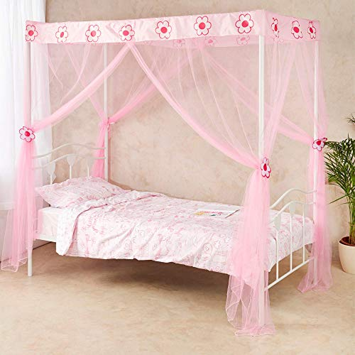 Wremedies for Easier Living Princess Bed Canopy for Girls Tie backs Birthday Gift Mosquito Netting Bed Bedroom Accessory Easy Installation Twin Bed Tent