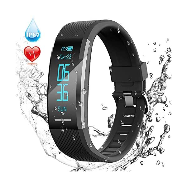 Pulsera de Actividad Inteligente Impermeable IP67, AGPTEK Reloj Deportivo con GPS Podómetro, Monitor de Ritmo, Calorías… 1