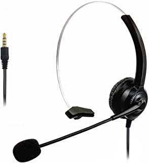 3.5mm Cell Phone Headset for Computer Laptop PC Tablet, Computer Headphones with Microphone for iPhone Android Skype Webin...