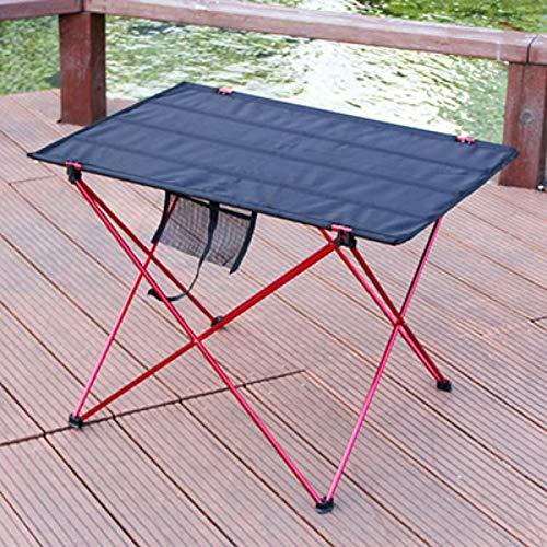 ARONTIME Mesa de camping plegable al aire libre, mesa de picnic de aleación de aluminio, mesa de camping impermeable, para mesa de playa