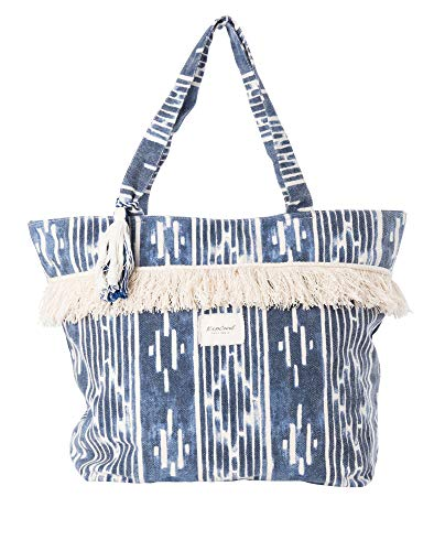 RIP CURL Moon Tide Jumbo Tote,Sac de Plage,Sac de Transport, écriture,Durable,Fonctionnelle,Blue