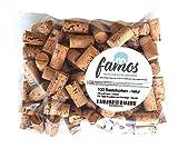 100 Korken/Weinkorken/Flaschenkorken zum Basteln - natur