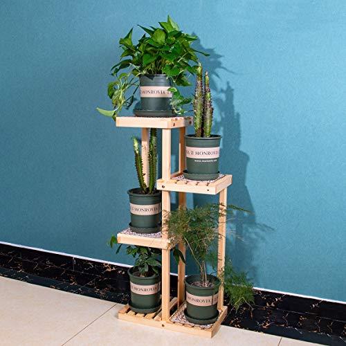 YINUO Étagère pour fleurs intérieur sur plusieurs étages offre spéciale espace salon cadre de rebord de terrasse radis vert simple support de fleur économique solide bois
