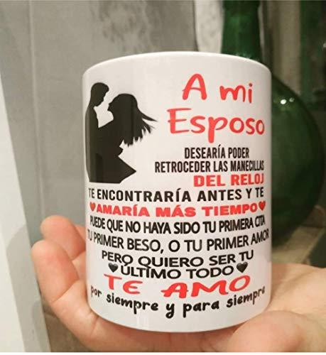 adaysusdetalles Taza para MI Esposo,Marido, Aniversario,Recien Casados