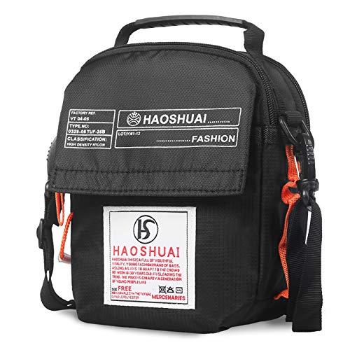 JAKAGO Waterproof Waist Bag Multifunction Shoulder Bag Universal Small Messenger Bag Handbag Waist Pack with Shoulder Strap for Outdoor Sport Travel Hiking Camping (Black)
