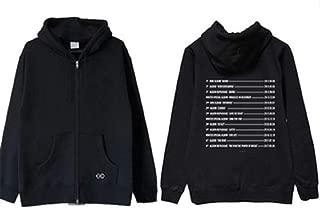 Gayo EXO Concert Around The Elyxion Loose Zipper Hoodie Sweatshirt Women