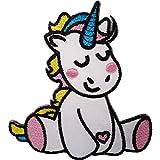 ELLU El Hierro del Remiendo del Unicornio del bebé cose en el Aplique Bordado del Bordado de la Insignia del Caballo del Potro
