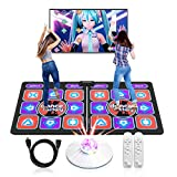 UeeVii Double Dance Mat for Kids Adults,Multi-Function Games &Music for HDMI TVs,Double Classic Wireless Dancer Blanket Pads,Yoga Fitness Double Dancing Step Floor Mat with MV/3D/Cartoon Mode,Non-Slip