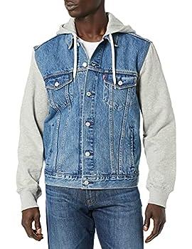 Levi s Men s Trucker Jacket Outerwear -Hybrid Hoodie/indigo 3XL