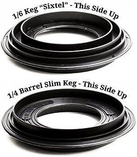Slim Keg Adapter - Used on Top of a Half-Barrel Keg Stacker or a Half-Barrel Keg Spacer to Stack a Sixtel Keg or a Quarter-Slim Keg on Top of a Half-Barrel Keg.